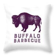 Buffalo Barbecue Throw Pillow