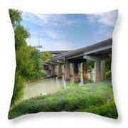 Buffalo Bayou Houston Throw Pillow