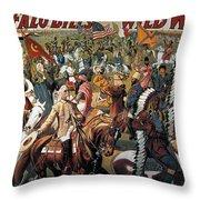 Buffalo Bill: Poster, 1908 Throw Pillow