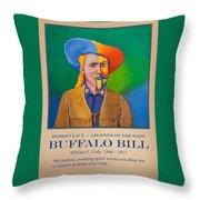 Buffalo Bill Poster Throw Pillow