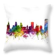 Buffalo Cityscape 06 Throw Pillow