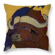 Buffalo Fury Throw Pillow