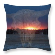 Buffalo Ghosts Throw Pillow