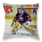 Buffalo Goalie  Throw Pillow