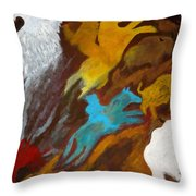 Buffalo Hunt  -021 Throw Pillow