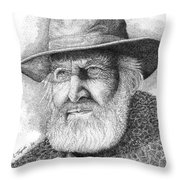 Buffalo Hunter Throw Pillow