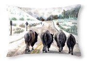 Buffalo Jam Throw Pillow