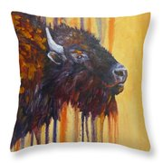 Buffalo Mania Throw Pillow