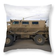 Buffalo Mine Protected Vehicle Throw Pillow by Terry Moore