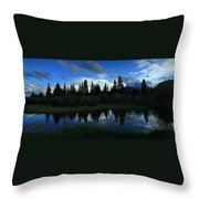 Buffalo Mountain At Sunset Throw Pillow