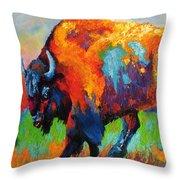 Buffalo On Weed Throw Pillow