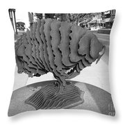 Buffalo Sculpture Grand Junction Co Throw Pillow