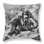 Buffalo Soldier, 1886 Throw Pillow