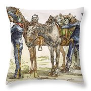 Buffalo Soldiers, 1886 Throw Pillow