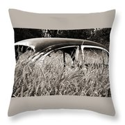 Bug In The Grass Throw Pillow