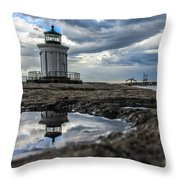 Bug Light Clouds And Reflection Throw Pillow