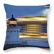 Bug Light Cruise Ship Throw Pillow