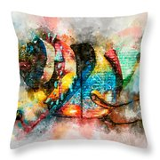 Bug Watercolor Throw Pillow by Michael Colgate