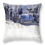Bugatti 35c Monaco Gp 1930 Louis Chiron  Throw Pillow