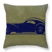 Bugatti 57 S Atlantic Throw Pillow