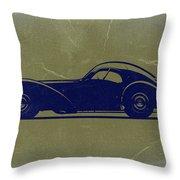 Bugatti 57 S Atlantic Throw Pillow by Naxart Studio