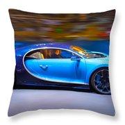 Bugatti Chiron 2 Throw Pillow