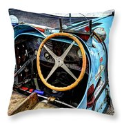 Bugatti Driver Side 1925 Throw Pillow