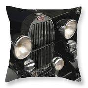 Bugatti Type 57 In Black Throw Pillow