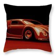 Bugatti Veyron 'beetgatti' 1945 Painting Throw Pillow