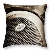 Bugatti Veyron Legend Grille Emblem -0514s Throw Pillow
