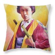 Bugeisha One Throw Pillow
