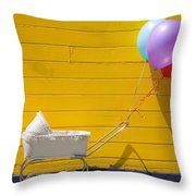 Buggy And Yellow Wall Throw Pillow