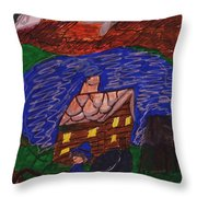 Buggy Ride Under The Stars Throw Pillow