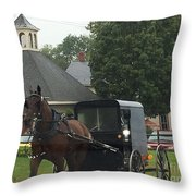 Buggy Travels By Throw Pillow