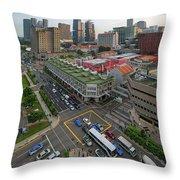 Bugis Village Junction In Singapore Entertainment District Throw Pillow