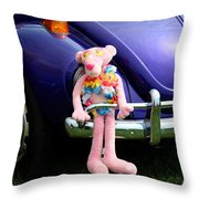 Bugsy Rider Throw Pillow