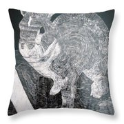 Bugsy The Rabbit Throw Pillow