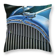Buick Grill And Hood Ornament Throw Pillow