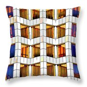 Building Abstract IIid Throw Pillow