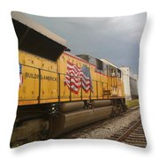 Building America Throw Pillow