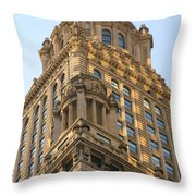 Building Chicago  Throw Pillow