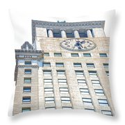 Building Closeup In Manhattan 11 Throw Pillow