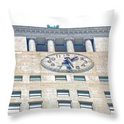 Building Closeup In Manhattan 12 Throw Pillow