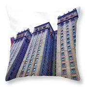 Building Closeup In Manhattan 14 Throw Pillow
