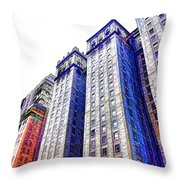 Building Closeup In Manhattan 15 Throw Pillow