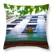 Building Closeup In Manhattan 17 Throw Pillow