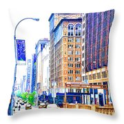 Building Closeup In Manhattan 18 Throw Pillow