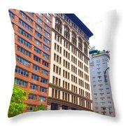 Building Closeup In Manhattan 5 Throw Pillow