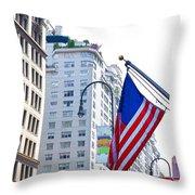 Building Closeup In Manhattan 9 Throw Pillow