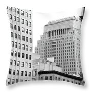 Building Eyes II Throw Pillow
